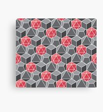 Dungeons and Dragons Fantasy Dice Pattern Canvas Print