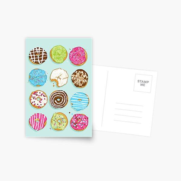 Sweet donuts Postcard