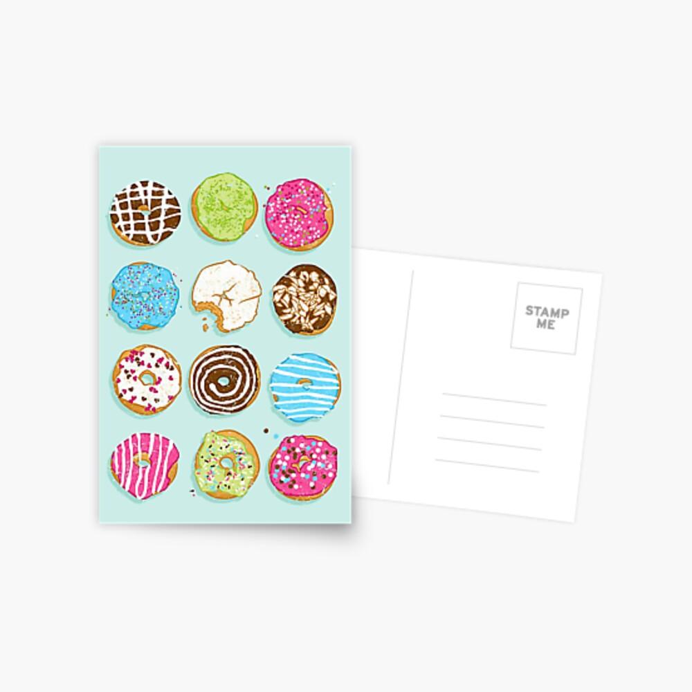 Süße Donuts Postkarte