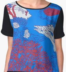Coral reef Women's Chiffon Top