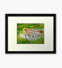 oh boy hot dogs! Framed Print