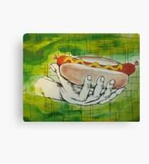 oh boy hot dogs! Canvas Print