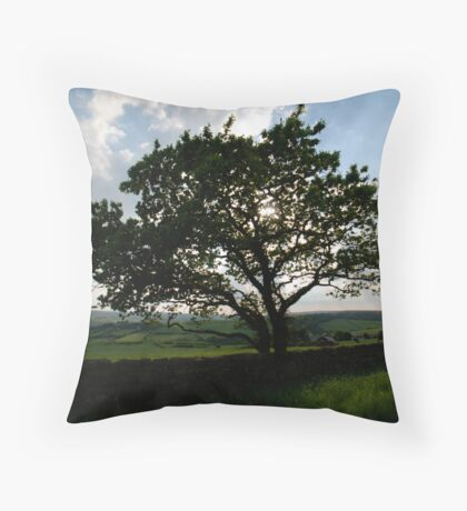 Tree in Lealholme Throw Pillow