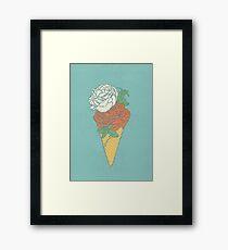 Rose ice cream Framed Print