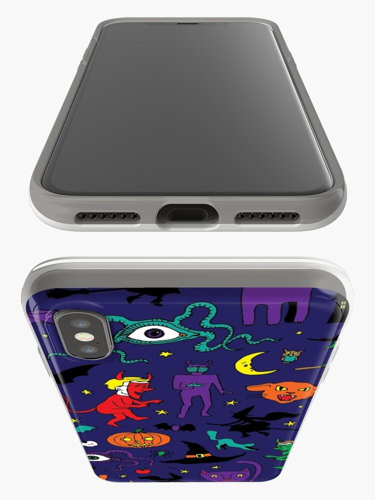 Vista alternativa de Vinilos y fundas para iPhone Retro Halloween - original - Patrón de Halloween de Cecca Designs