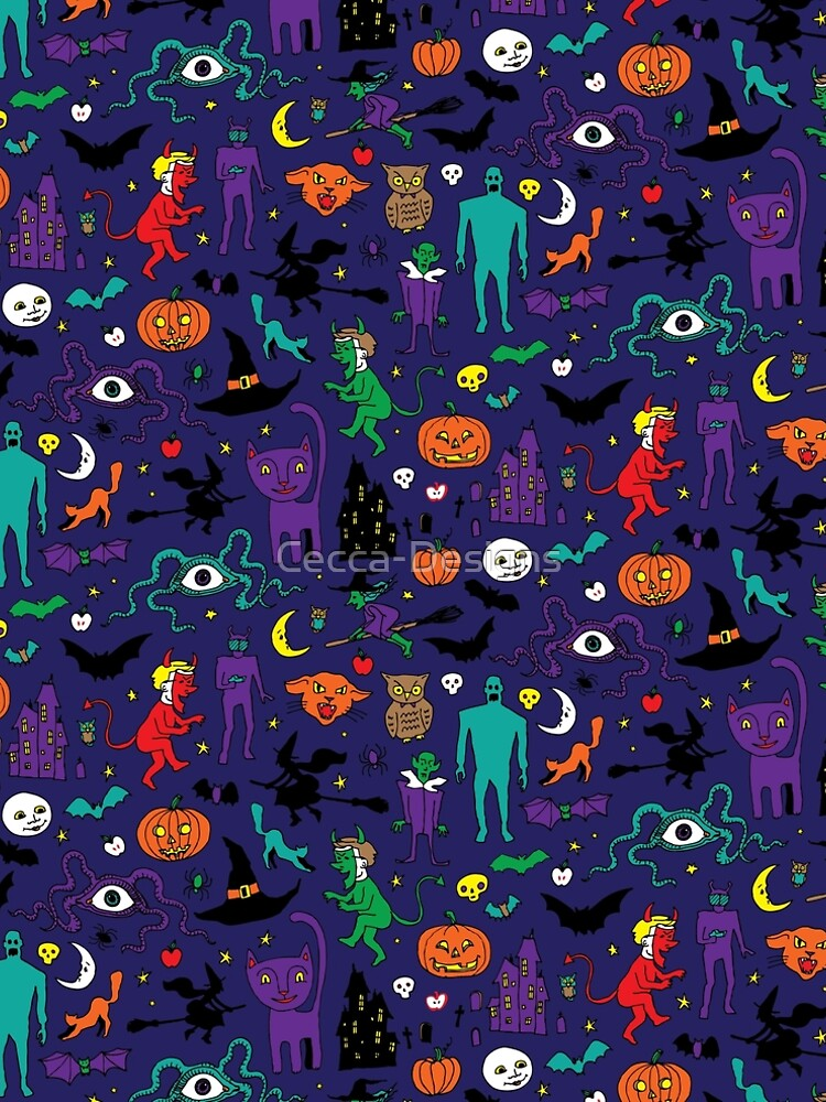 Retro Halloween - original - Halloween pattern by Cecca Designs by Cecca-Designs