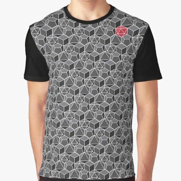 Fantasy Dice Pattern Graphic T-Shirt