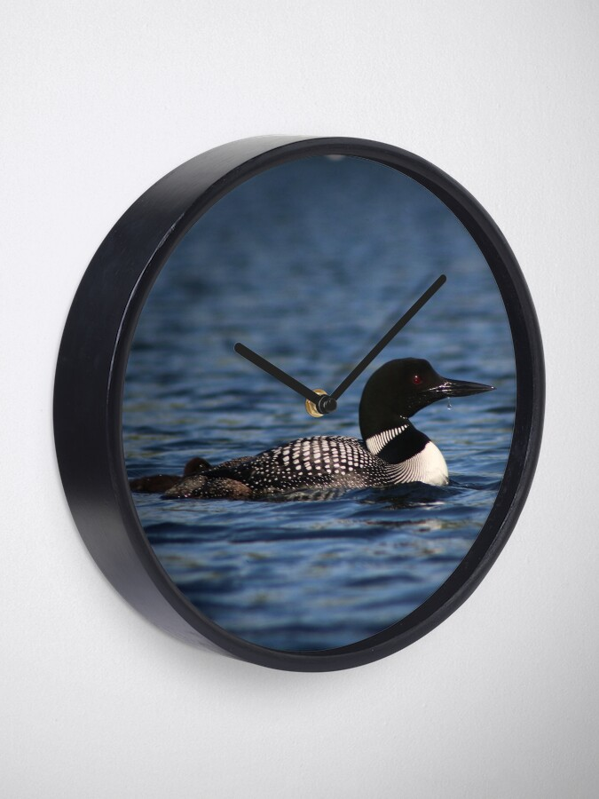 Alternate view of Common Loon Clock
