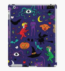 Retro Halloween - original - Halloween pattern by Cecca Designs iPad Case/Skin