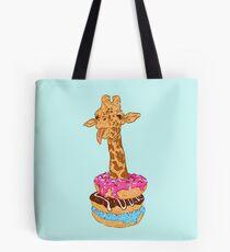 Donuts giraffe Tote Bag