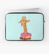 Donuts giraffe Laptop Sleeve