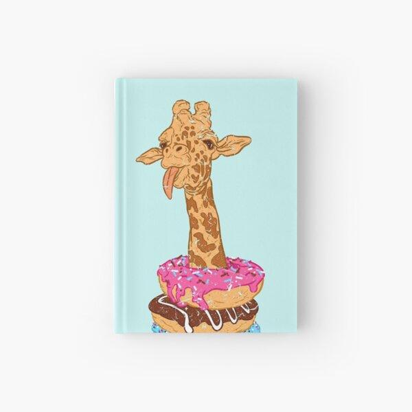 Donuts giraffe Hardcover Journal