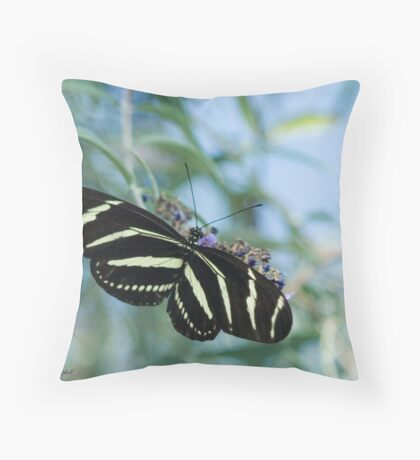 Zebra Wings Throw Pillow