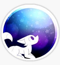 Stargazing Fox Sticker