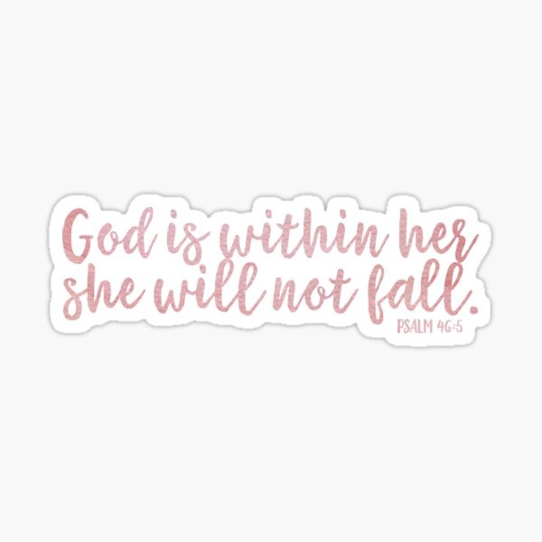Christian Quote Watercolor Sticker