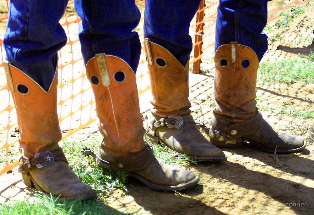 Orange Working Boots by courier