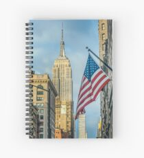 Empire State, Stars and Stripes Spiral Notebook