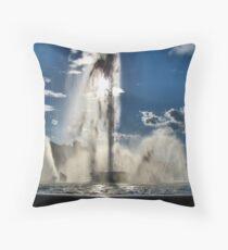 Point State Park Fountain Throw Pillow