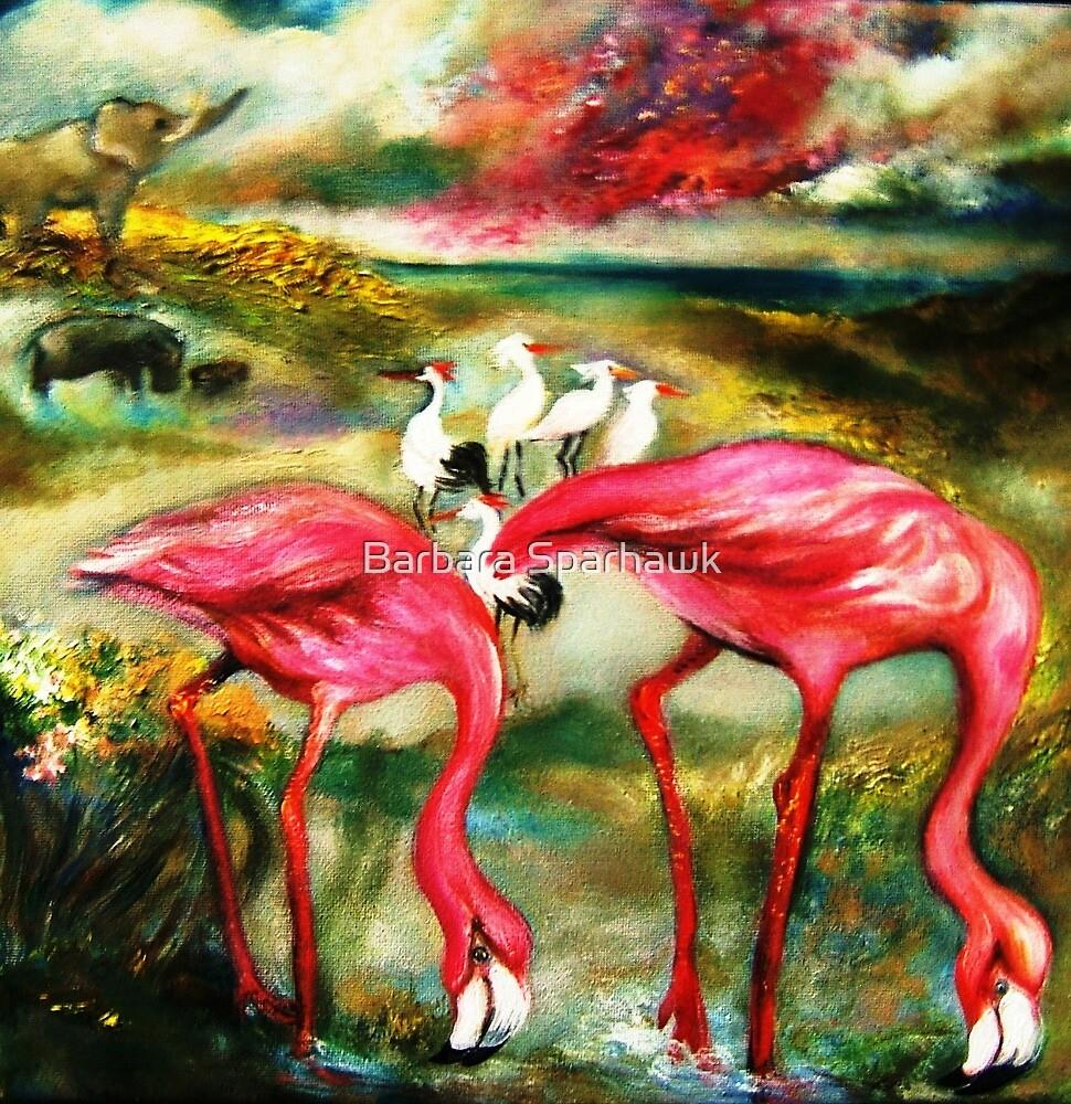 THE FLAMINGOES by Barbara Sparhawk