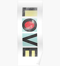 Love - Modern Graphic Typography Poster