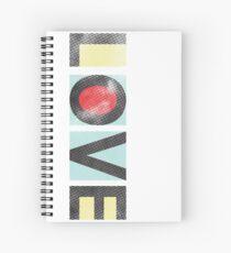 Love - Modern Graphic Typography Spiral Notebook