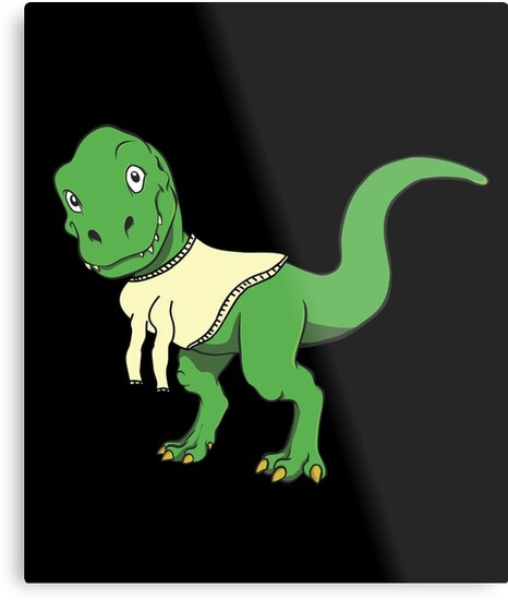 funny t rex tyrannosaurus rex dinosaur wearing turtle neck t shirt