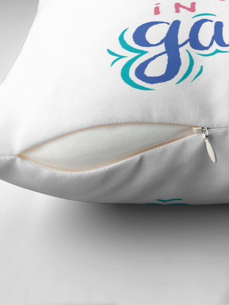 Alternate view of Keep Your Head In The Game Throw Pillow
