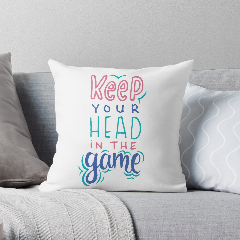 Keep Your Head In The Game Throw Pillow