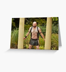 TROY - GLADIATOR BOUND Greeting Card