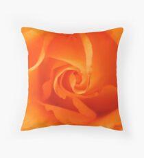 Beautiful Orange Rose Throw Pillow