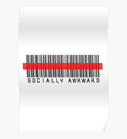 Socially Awkward RED BARCODE Poster