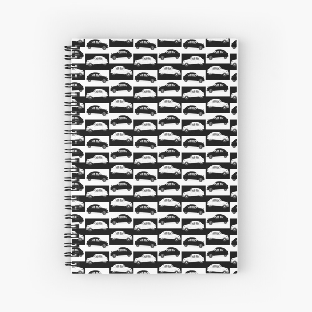 Citroen 2CV Pattern Spiral Notebook
