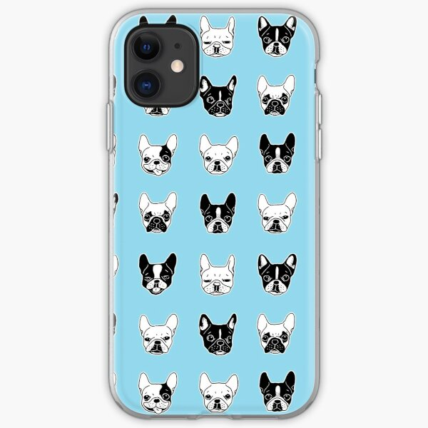 Nette Frenchies Doggie Family Collage iPhone Flexible Hülle