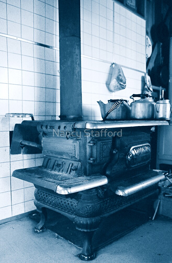 Old WoodStove by Nancy Stafford