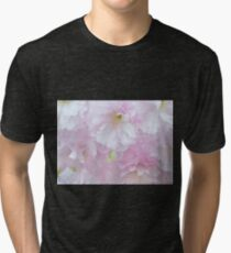Blossoms in Pastel Pink Tri-blend T-Shirt