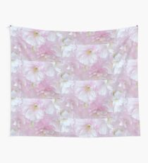 Blossoms in Pastel Pink Wall Tapestry