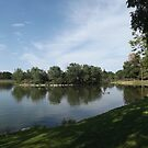 Lake, Trees, City Park, Denver, Colorado by lenspiro