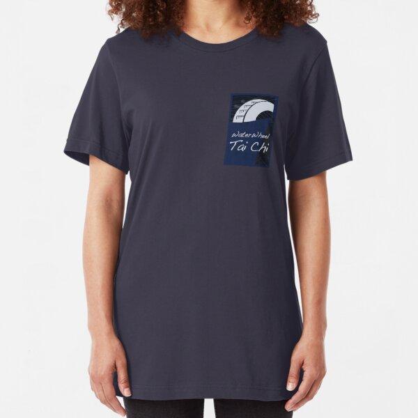 WaterWheel Tai Chi logo Slim Fit T-Shirt