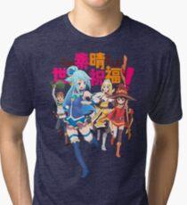 Konosuba! Tri-blend T-Shirt