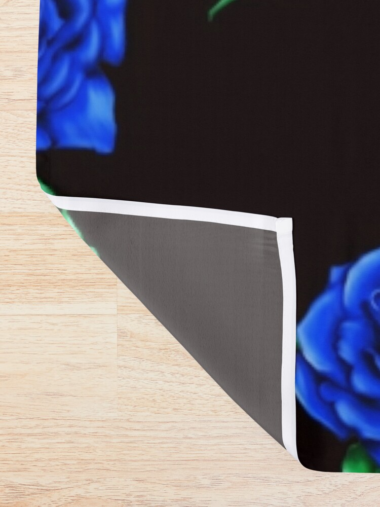 Alternate view of Blue Rose Shower Curtain