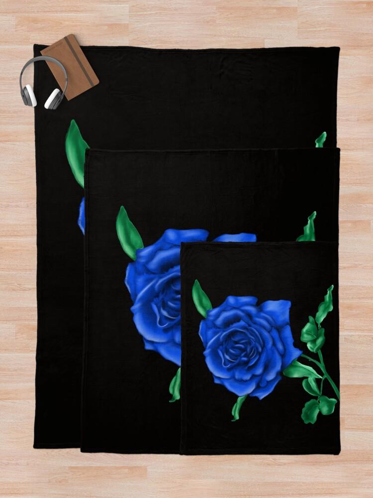 Alternate view of Blue Rose Throw Blanket