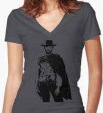 Clint Eastwood The Good, The Bad and The Ugly Fitted V-Neck T-Shirt