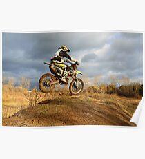 Riding Dirt Bike  Poster