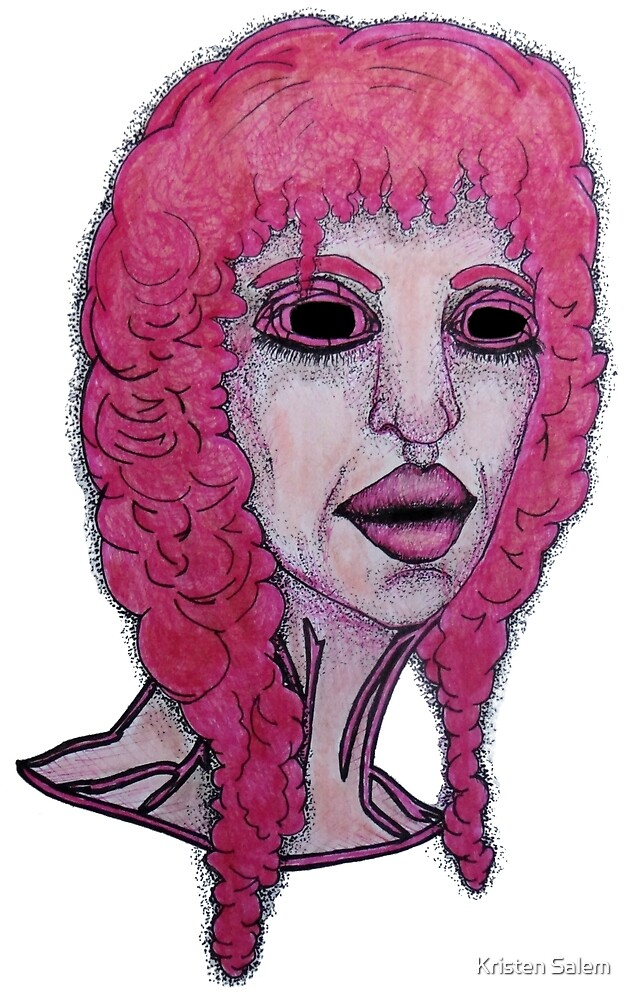Eyeless Pink Bust  by Kristen Salem