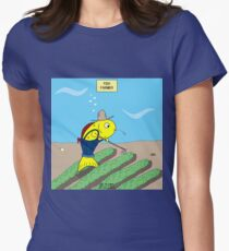 Fish Farmer farming a Fish Farm Women's Fitted T-Shirt
