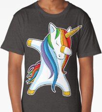 Dabbing Unicorn Shirt Cute Funny Unicorns T shirt Gifts for Kids Girls Boys Women Men Long T-Shirt