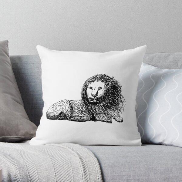 Lion of Lion Throw Pillow