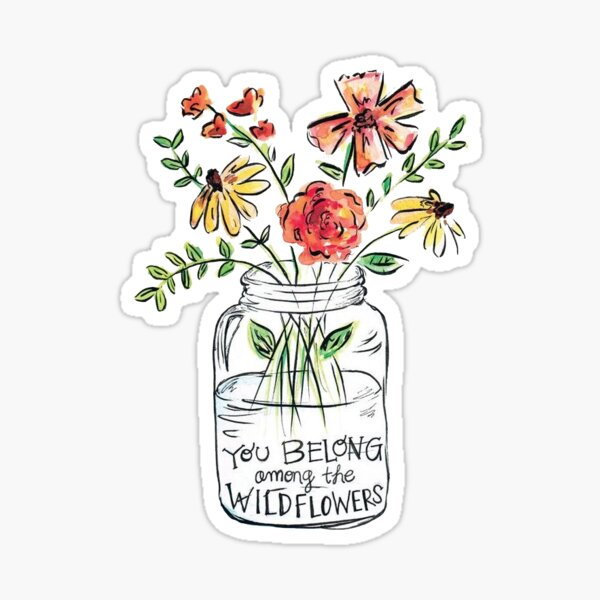 Flower Quote Sticker