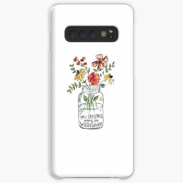 Blumen-Zitat Samsung Galaxy Leichte Hülle