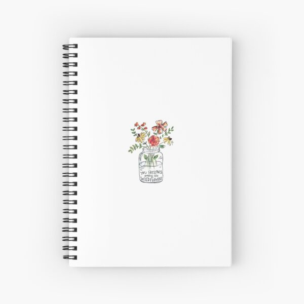 Flower Quote Spiral Notebook